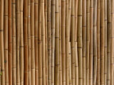 Close-Up of Rustic Brown Bamboo Mat Photographic Print