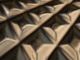 Close-Up of Industrial Surface with a Symmetrical Pattern Photographic Print