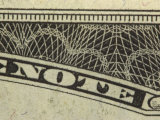 Close-Up of Text and Design on Us Currency Photographic Print
