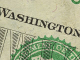 Close-Up of Text and Symbol on Us Currency Photographic Print