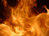 Close-Up of Blazing Flames of Fire Photographic Print