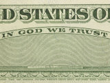 Close-Up of Text on Crisp Us Currency Photographic Print