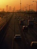 Hectic Traffic on Highway at Sunset in Toronto, Canada Photographic Print