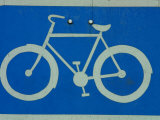 Metal Bicycle Sign Photographic Print