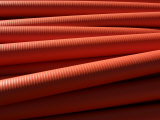Horizontal Rows or Industrial Red Pipes Photographic Print