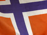 Cropped Close-Up of the Norwegian Flag in Norway Photographic Print