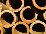 Pile of Rustic Metal Pipes Photographic Print