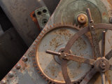 Industrial Metal Gears with Rusty Surface Photographic Print