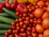 Pile of Delicious and Healthy Vegetables and Fruit Photographic Print