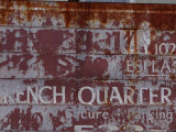 Faded French Quarter Sign, New Orleans, Louisiana, Usa Photographic Print