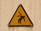 Electrical Shock Hazard Sign Photographic Print