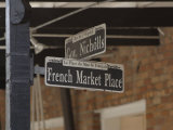 French Market Place Street Sign, New Orleans, Louisiana, Usa Photographic Print