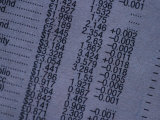 Financial Statement Printed on Paper Photographic Print