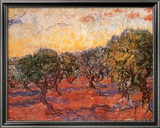 The Olive Grove, c.1889 Art by Vincent van Gogh