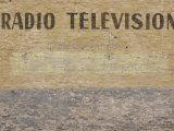 Text of Radio Television Written on Painted Wall Surface Photographic Print