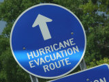 Hurricane Evacuation Route Sign Photographic Print