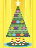 Decorated Christmas Tree Stampa