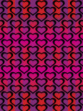 Colorful Pattern of Hearts for Valentine's Day Prints