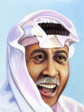 Portrait of Smiling Man in Arabian Garb Posters