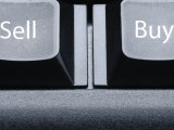 Buy and Sell Buttons on Computer Keyboard Photographic Print