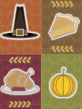 Four Objects of Thanksgiving Holiday Prints