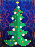 Christmas Tree with Ornaments Lámina
