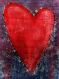 Red Heart Shape Affiches
