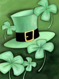 Saint Patrick&#39;s Day Shamrocks by Hat Prints