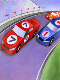 Car Race with Spectators Prints