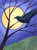 Raven in Tree by Moonlight Prints