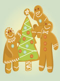 Gingerbread Men Christmas Cookies Prints
