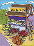 Vegetables Vendors Posters