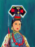 Portrait of Woman in Cultural Attire Prints