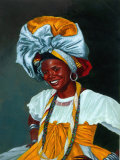 Portrait of Smiling Woman in Cultural Garb Photo