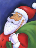 Portrait of Santa Claus Prints