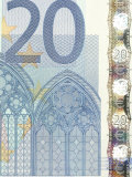 Detail of a Traditional Twenty Euro Banknote Photographic Print