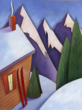Winter Snow around Ski Lodge Poster