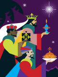 Three Wisemen with Gifts Prints