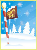 Sign for North Pole Prints