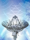 Signals Emanating from Satellite Tower Photographic Print