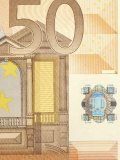Detail of a Traditional Fifty Euro Banknote Photographic Print