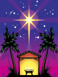 Night Stars over Birthplace of Jesus Christ Print