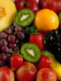 Variety of Fresh and Juicy Fruits Reprodukcja zdjęcia