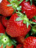 Bunches of Fresh Ripe Strawberries Photographic Print