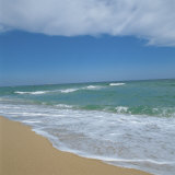 Waves Lapping Up onto Sandy Beach Photographic Print