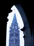 Exterior of Historical Clock Tower in Ontario, Canada Photographic Print