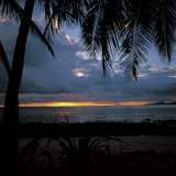 Silhouette of Palm Trees During Beautiful Sunset Photographic Print
