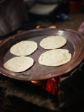 Delicious Tortillas Cooking on Hot Griddle Photographic Print