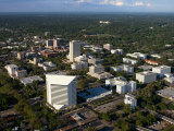 Aerial View of Buildings and High Rises in Tallahassee, Florida Photographic Print