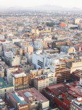 Aerial View of Cityscape and Buildings in Mexico City, Mexico Photographic Print
